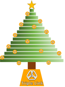 Triple Link decorated Christmas Tree